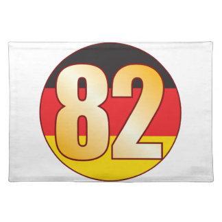 82 GERMANY Gold Placemat
