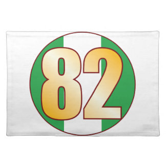 82 NIGERIA Gold Placemat