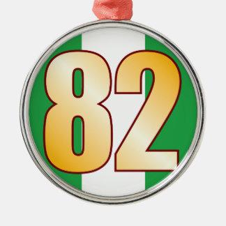 82 NIGERIA Gold Silver-Colored Round Decoration