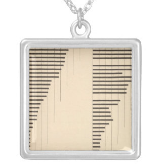 82 Proportion illiterates by state 1900, 1890 Silver Plated Necklace