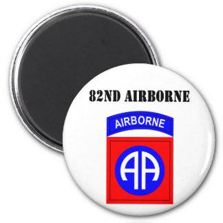82nd Airborne 6 Cm Round Magnet