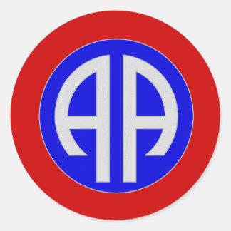 82nd AIRBORNE- ARMY Round Sticker