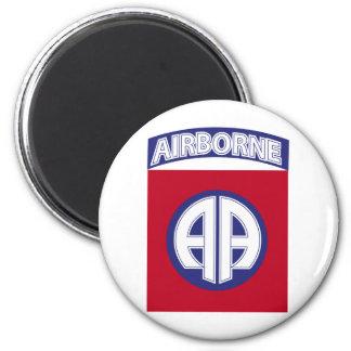 82nd Airborne - Combat Service Badge 6 Cm Round Magnet