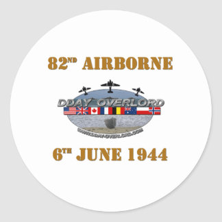 82nd Airborne Division 6th June 1944 Classic Round Sticker
