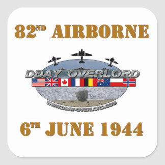 82nd Airborne Division 6th June 1944 Square Sticker