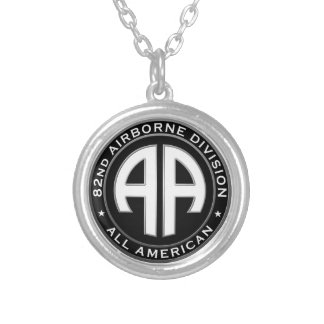 82nd Airborne Division Casual Patch Silver Plated Necklace