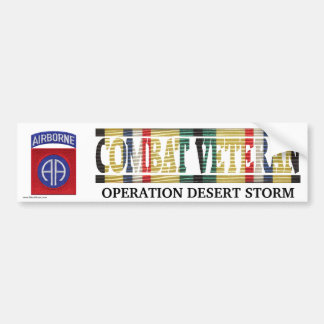 82nd Airborne Division SWA Combat Veteran Sticker Bumper Sticker
