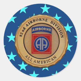 "82ND AIRBORNE DIVISION ""USARMYFANMERCH""  ""U.S. Arm Classic Round Sticker"