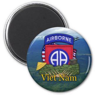 82nd airborne division vietnam vets veterans Magne 6 Cm Round Magnet