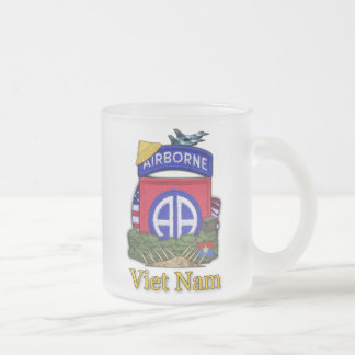 82nd airborne division vietnam war patch Cup 10 Oz Frosted Glass Coffee Mug