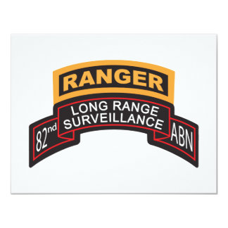 82nd Airborne LRS Scroll, Ranger Tab 11 Cm X 14 Cm Invitation Card