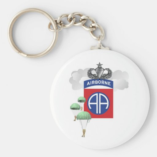 82nd Airborne, Paratroopers, Senior Jump Wings Key Chain