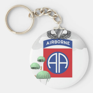 82nd Airborne Paratroopers Senior Jump Wings Keychains