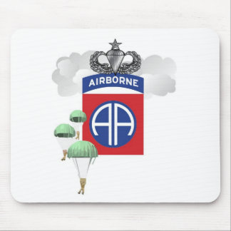 82nd Airborne, Paratroopers, Senior Jump Wings Mouse Mat