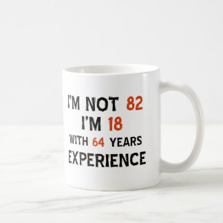 82nd birthday designs coffee mug