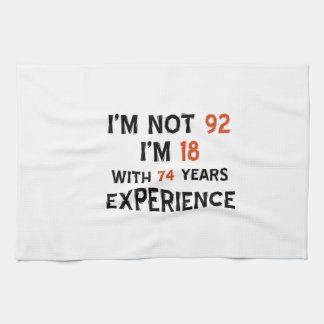 82nd birthday designs tea towel