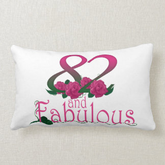 "82nd birthday Lumbar Pillow 13"" x 21"""