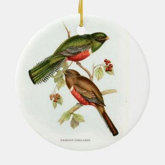 8308.jpg, 8294.jpg, 8299.jpgPrettyBirds Double-Sided Ceramic Round Christmas Ornament