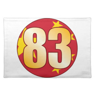 83 CHINA Gold Placemat
