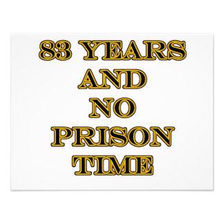 83 No prison time Personalized Announcement