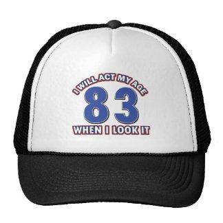 83rd birthday designs cap