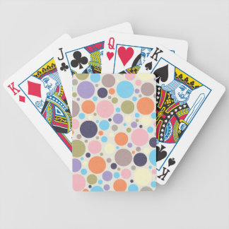 8474_polka-dots POLKA DOTS CIRCLES COLORFUL PINK O Bicycle Playing Cards