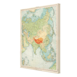 8485 Asia physical Canvas Print