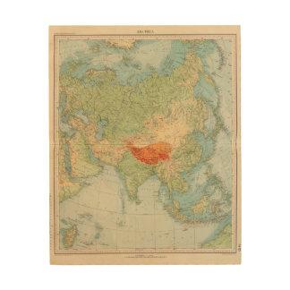 8485 Asia physical Wood Print