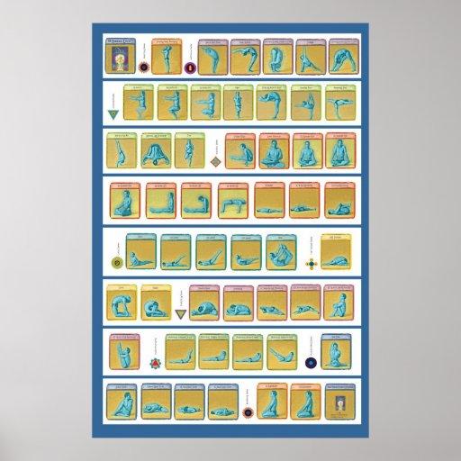 84 Asanas, Level 1 Posters