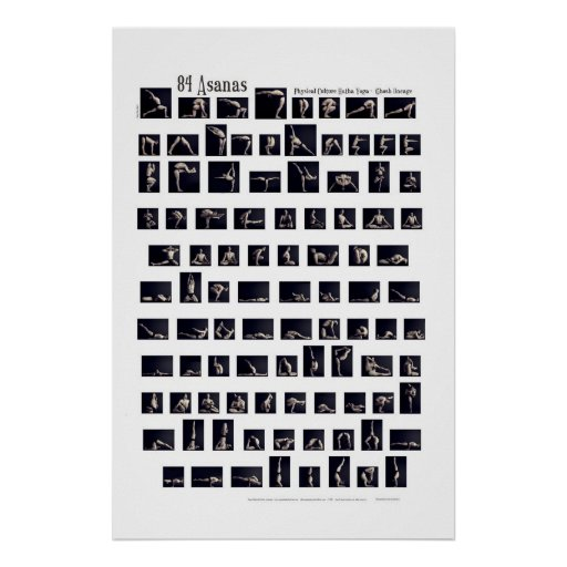 84 Asanas Poster