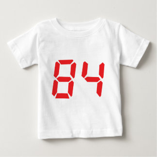84 eighty-four red alarm clock digital number t shirt
