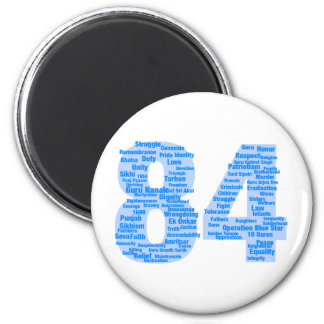 84 Reasons Never To Forget 6 Cm Round Magnet