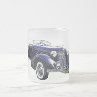 851 Auburn boattail speedster auto black car Frosted Glass Mug