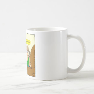859 sleeping pills cartoon basic white mug