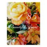 85 Beautiful Years!-Birthday/Yellow Rose Bouquet Personalized Invitations