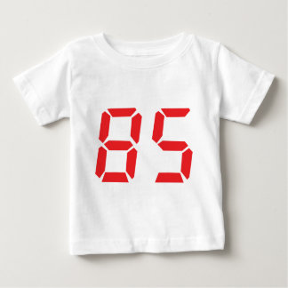 85 eighty-five red alarm clock digital number baby T-Shirt