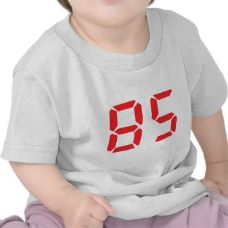 85 eighty-five red alarm clock digital number t-shirts