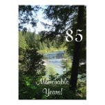 85 Memorable Years/Birthday Celebration-Lakeview Custom Invitation