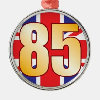 85 UK Gold Christmas Ornament