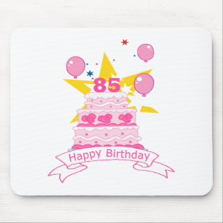 85 Year Old Birthday Cake Mouse Mat