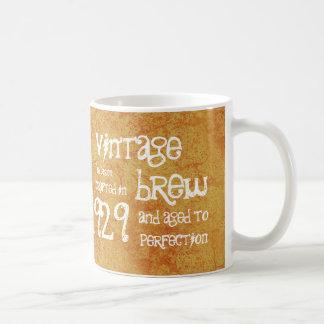 85th Birthday 1929 Vintage Brew or Any Year V85A Basic White Mug