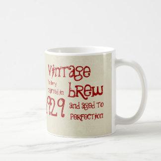 85th Birthday 1929 Vintage Brew or Any Year V85C Basic White Mug