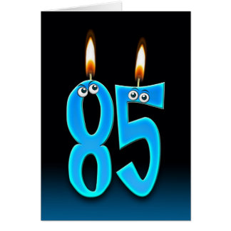 85th Birthday Candles Greeting Card