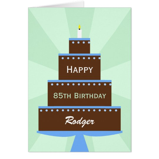 85th Birthday Card Custom Name