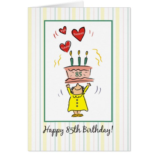85th Birthday Card for a Woman, Humour