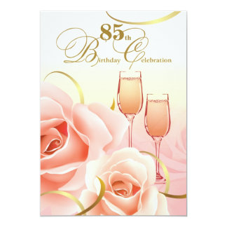 85th Birthday Celebration Custom Invitations