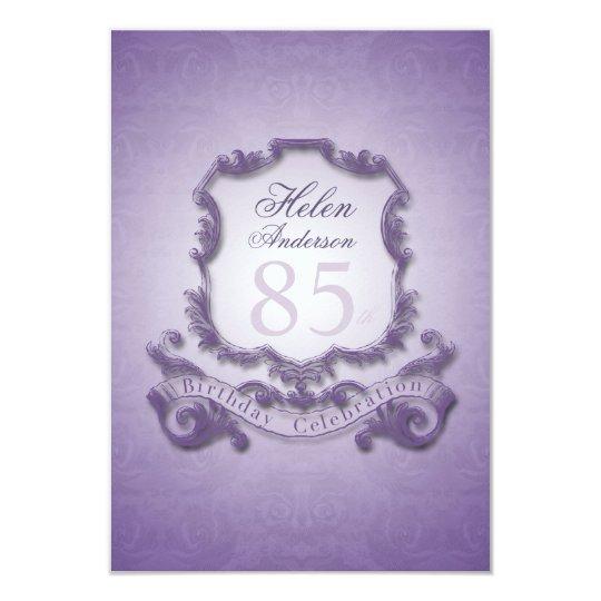85th Birthday Celebration Vintage Frame Invitation