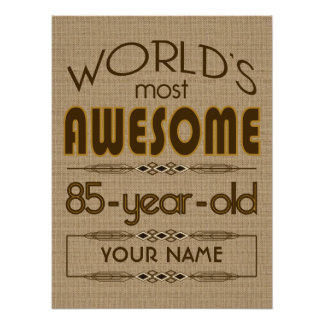 85th Birthday Celebration World Best Fabulous Poster