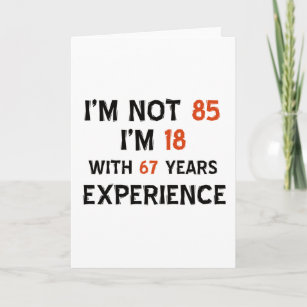 85th Birthday Designs Card