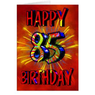 85th Birthday Fireworks Card
